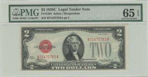 1928C $2 Legal Tender Note FR#1504 PMG 65 EPQ Gem Unc
