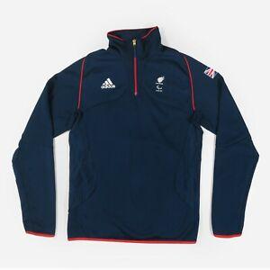 Adidas Official Team GB London 2012 Olympics Half Zip Jumper Pullover Men's L