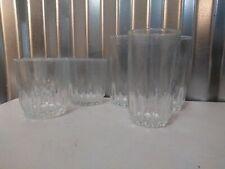 6 Vintage Luminarc Clear Glass (3) Tumblers & (3) Drinking Glasses ! Regency ?