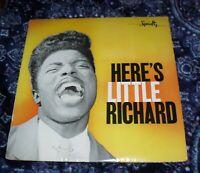 Little Richard Heres Little Richard LP Vinyl Record Album Specialty Rare Reissue