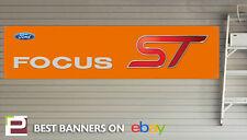 Mk 2 Ford Focus ST Banner for Workshop, Garage, PVC Banner, ST Orange, LARGE