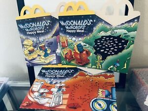 Vintage Mcdonalds Happy Meal Changeables Box lot of 3