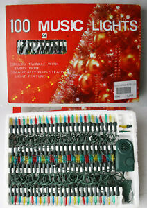 RARE VINTAGE 90'S CHRISTMAS 100 TREE MUSIC LIGHTS INDOOR CHINA NEW NOS !