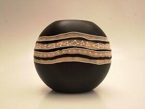 African Textured Home Decor Wooden Vase - Decorative Vase