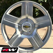 Chevrolet Silverado Wheels Texas Edition Rims Silver Machined Rims 20 inch 6 lug