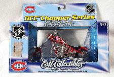 MONTREAL CANADIENS NHL OCC CHOPPER ORANGE COUNTY CHOPPER BIKE DIECAST 1:18 SCALE