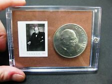 Churchill, Commemorative, Coin and Stamp Set, Yousuf Karsh Painting 1941