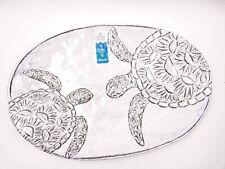 """NWT 17"""" Sigrid Olsen Ocean MELAMINE Serving Tray Platter Embossed Sea Turtles"""