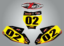 KTM 50 2016 Custom Number Plate stickers BARBED Style decals