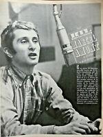 PUBLICITÉ PRESSE 1967 RTL RADIO TÉLÉ LUXEMBOURG MARCEL AMONT CHANTE A LA DEMANDE