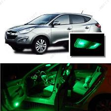 For Hyundai Tucson 2010-2016 Green LED Interior Kit + Green License Light LED