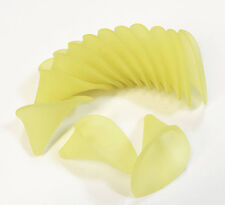 270 pcs of Frosted Acrylic Lily flower 19x21mm  Yellow