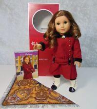 "American Girl 18"" REBECCA DOLL & MEET OUTFIT Brooch Shawl Book Hazel Eyes AG BOX"
