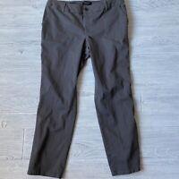 Talbots heritage gray casual straight leg Pants Womens Size 14wp