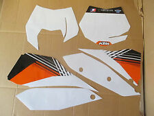 TEAM  KTM NUMBER PLATE GRAPHICS  SX SXF 07 08 09 10 WHITE  BACKGROUNDS  BOARDS