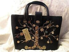 Vintage New With Tags 1960's Fabrique N.Y. Jeweled Canvas Handbag ~ Real Coins~
