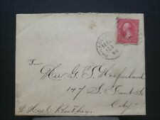 Classic Cover 2c Washington red 1899 Handstamped Cancel