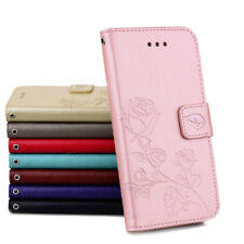 Flip Case Cover PU Leather Wallet Card Slot Stand Shell For Mobile Phone