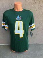 Mens Size Small S NFL Green Bay Packers Short Sleeve #4 Brett Favre Jersey Shirt