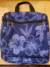 "LL Bean Nylon Travel Kit Toiletry Bag 10"" x 11"" x 2.5"" GUC"