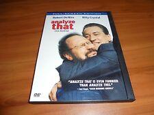 Analyze That (DVD, 2003, Full Frame) Billy Crystal, Robert De Niro Used