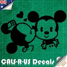 Minnie Kissing Mickey Mouse Peek Peeping Decal Sticker - Wall Baby Nursery L3