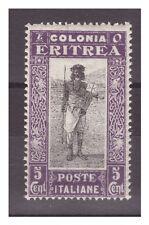 ERITREA  1930   -   SOGGETTI AFRICANI    CENTESIMI  5    NUOVO **