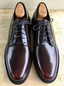 NOS Mason Executive Imperial 7 1/2 C Plain Toe Blucher Burgundy Brown Cordovan