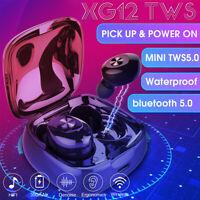 bluetooth 5.0 TWS Headset Wireless Twins Earbuds 5D Stereo Earphones Headphones