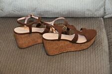 Kate Spade New York Women's Tianna Wedge Sandal,Nappa,10 M US Pre Owned