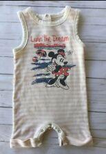 Junk Food 6-9 Month Disney minnie mouse Romper Beach Pink Cream vintage style