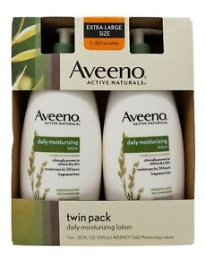 Aveeno Active Naturals Daily Moisturizing Lotion 20 FL OZ Each 2 Pack