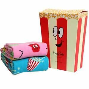 Happy Socks 2-Pack Popcorn Socks Gift Box, Pink/Blue