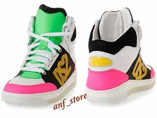 NIB DSQUARED2 High Top Sport Mens Leather Fashion Sheakers Shoes 44 / 11 $795 IT