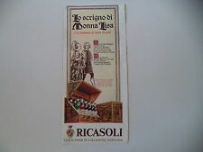 advertising Pubblicità 1973 VINI RICASOLI