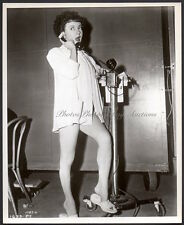leggy AUDREY TOTTER on telephone FILM NOIR behind the scenes VINTAGE ORIG PHOTO