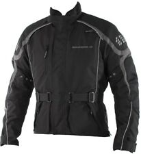 SINISALO Motorradjacke RATE Jacke wasserdicht schwarz grau Protektoren 52 / L