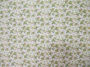 Minigraphics Dollhouse Miniatures Wallpaper ***Wild Strawberry*** Green Leaves