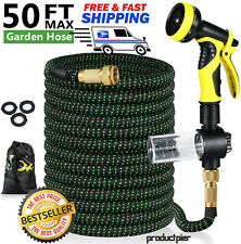 4X Stronger Heavy Duty Expandable Garden Hose Flexible 4-Layers Latex Core 50ft