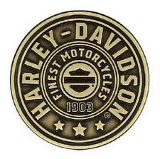 Harley-Davidson 2D Die Cast Harley Shield Pin, Antiqued Bronze Finish P278682