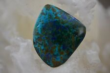 Chrysocolla and Azurite Free Form Cabochon 22.4 grams 46.91 X 39.07 X 7.75MM