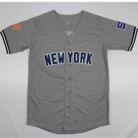 Gray Baseball Jersey 45# USA Baseball Jersey New York All Stitched