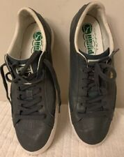 Mens PUMA MATCH Grey Leather Fashion Sneakers Size 10