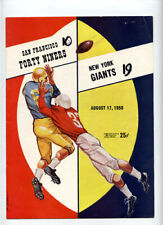San Francisco 49ers v New York Giants **VTG** 1958 Program  Tittle Frank Gifford