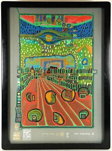 """Friedensreich Hundertwasser """"Street for survivors"""" 1972  nummeriert & signiert"""