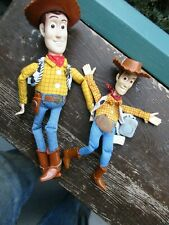 Woody dolls Toy Story- Lot of 2  Mattel 1999 & Burger King  Small -with HATS!!!