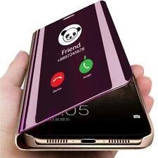 Pour Huawei P30 Pro P20 Lite étui à rabat cuir intelligent coque Miroir housse