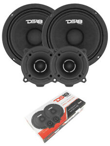 "1560W 2x GM6.4 6.5"" 4 Ohm Midrange Speakers + 2x TW120 Tweeters PRO-GM6.4PK"