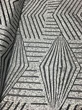 Sequins Silver Black Desinger Dress Gowns High End Disk Mesh Fabric By The Yard