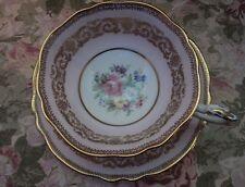PARAGON BONE CHINA TEA CUP & SAUCER SET PINK & HEAVY GOLD ENGLAND